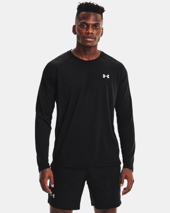 Men's UA Streaker Run Long Sleeve, Black, pdpMainDesktop image number 1