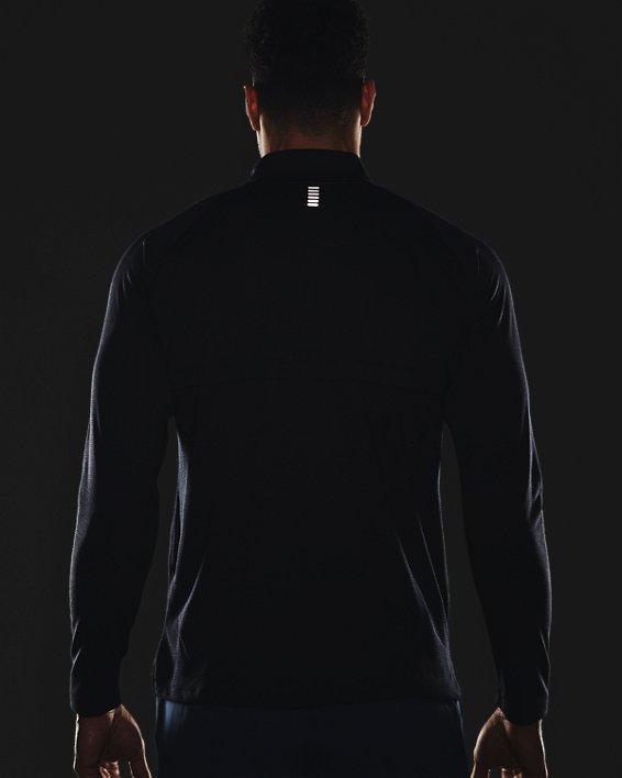 Herren UA Streaker Run Oberteil mit ½ Zip, Black, pdpMainDesktop image number 3