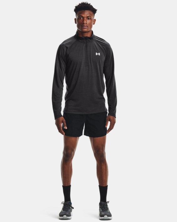 Men's UA Streaker Run ½ Zip, Gray, pdpMainDesktop image number 2