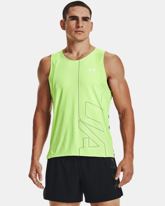Men's UA Iso-Chill Run Brand Singlet, Green, pdpMainDesktop image number 1