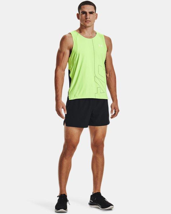 Men's UA Iso-Chill Run Brand Singlet, Green, pdpMainDesktop image number 0