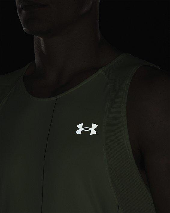 Men's UA Iso-Chill Run Brand Singlet, Green, pdpMainDesktop image number 6