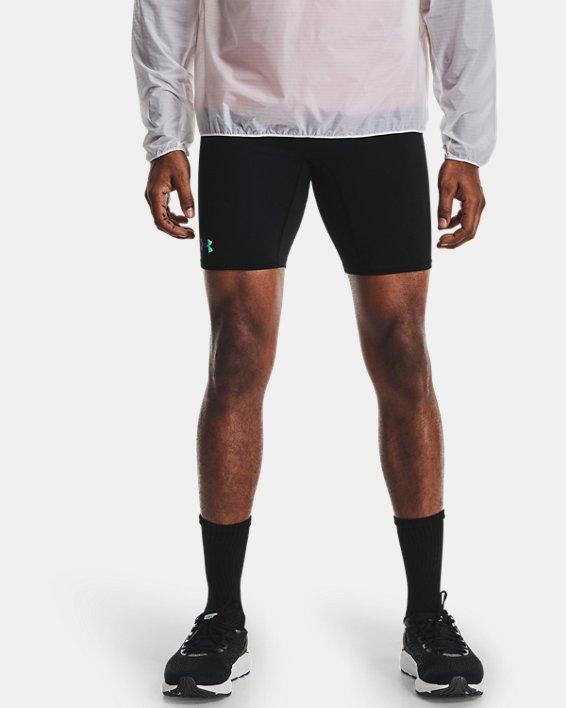 Men's UA RUSH™ Run ½ Tights, Black, pdpMainDesktop image number 1