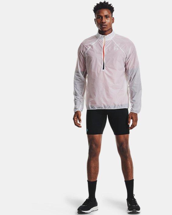 Men's UA RUSH™ Run ½ Tights, Black, pdpMainDesktop image number 0