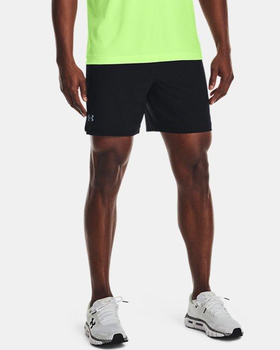 """Men's UA Speedpocket 7"""" Shorts, Black, pdpMainDesktop image number 1"""