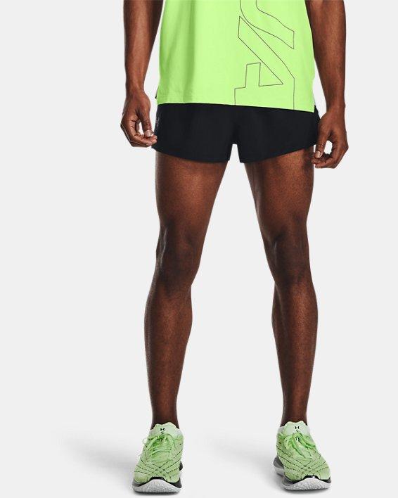 Pantalón corto UA Launch Run Split para hombre, Black, pdpMainDesktop image number 1