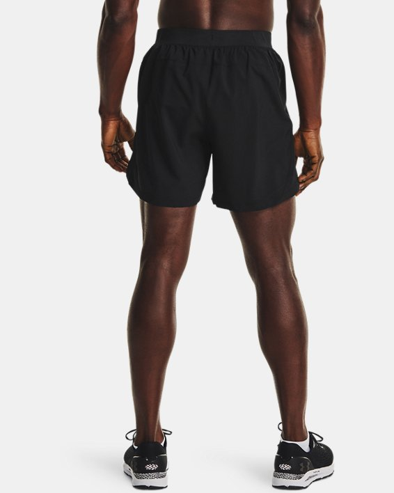 "Men's UA Launch Run 5"" Shorts, Black, pdpMainDesktop image number 2"