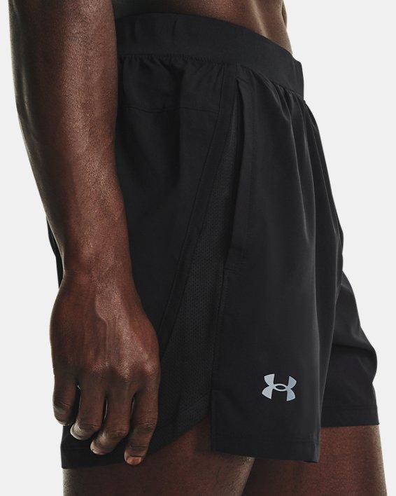 "Men's UA Launch Run 5"" Shorts, Black, pdpMainDesktop image number 3"