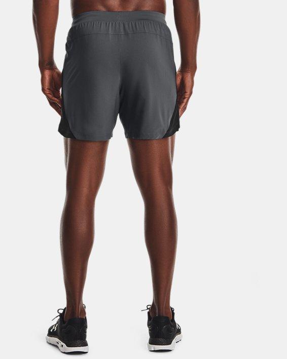 "Men's UA Launch Run 5"" Shorts, Gray, pdpMainDesktop image number 2"