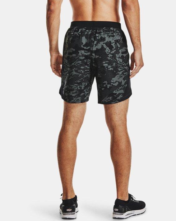 Pantalón corto UA Launch Run Print de 18cm para hombre, Black, pdpMainDesktop image number 2