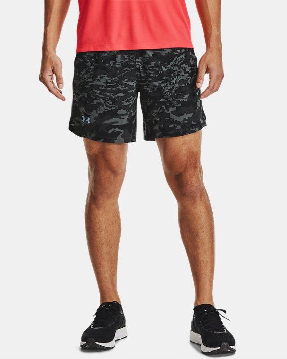 Pantalón corto UA Launch Run Print de 18cm para hombre, Black, pdpMainDesktop image number 1