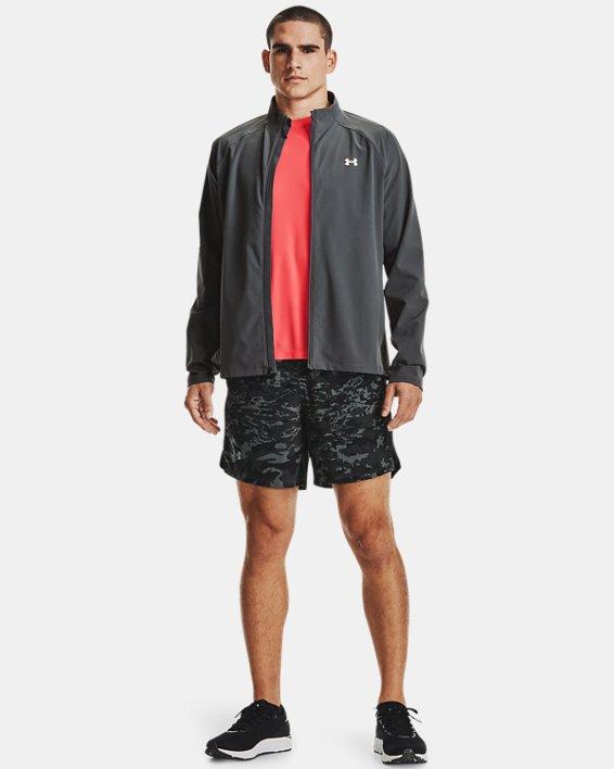 Pantalón corto UA Launch Run Print de 18cm para hombre, Black, pdpMainDesktop image number 0