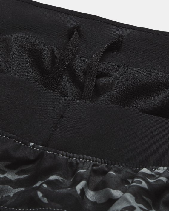 Pantalón corto UA Launch Run Print de 18cm para hombre, Black, pdpMainDesktop image number 6