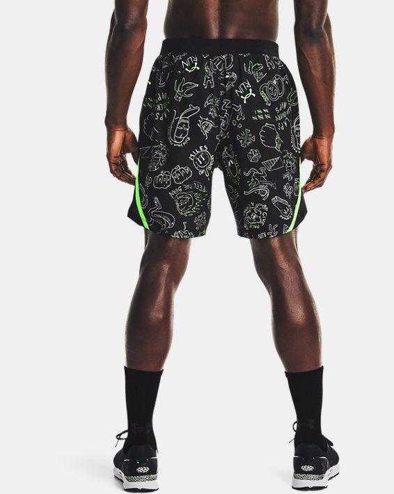 "Men's UA Launch 7"" Run Your Face Off Shorts, Black, pdpMainDesktop image number 2"