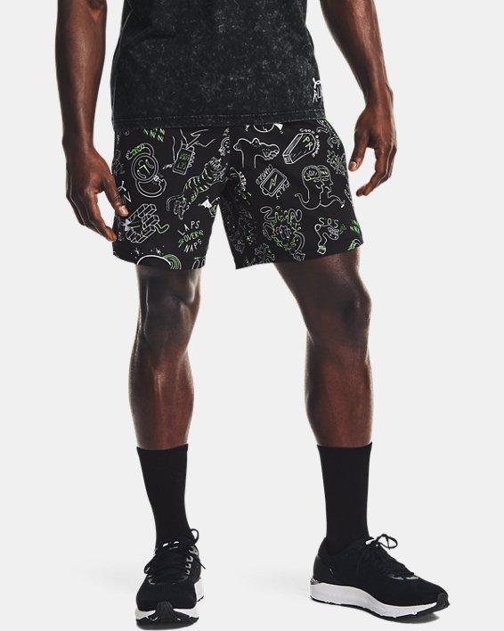 "Men's UA Launch 7"" Run Your Face Off Shorts, Black, pdpMainDesktop image number 1"