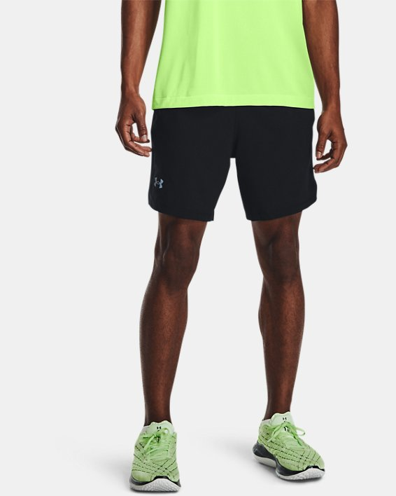 Men's UA Launch Run 2-in-1 Shorts, Black, pdpMainDesktop image number 1