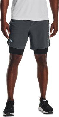 Under Armour Lancement unique Weave Homme Running Split Shorts-Noir