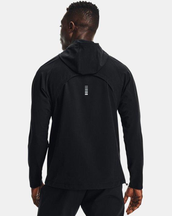 Men's UA OutRun The Storm Jacket, Black, pdpMainDesktop image number 2