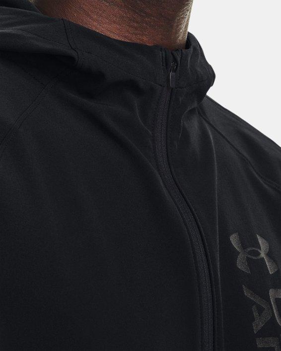 Men's UA OutRun The Storm Jacket, Black, pdpMainDesktop image number 5