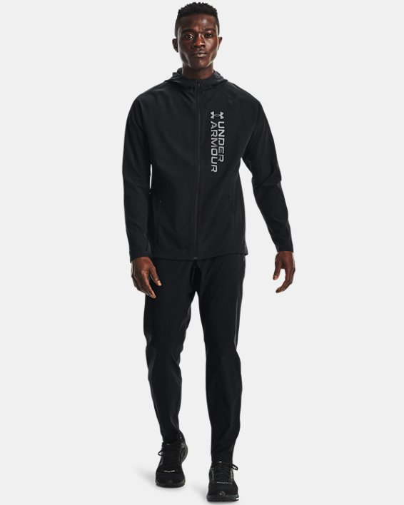 Men's UA OutRun The Storm Jacket, Black, pdpMainDesktop image number 0