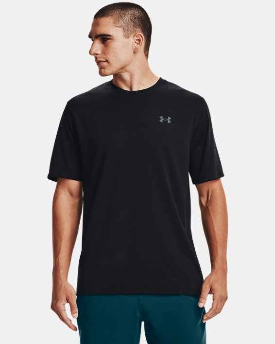 Men's UA Training Vent Camo Short Sleeve, Black, pdpMainDesktop image number 1