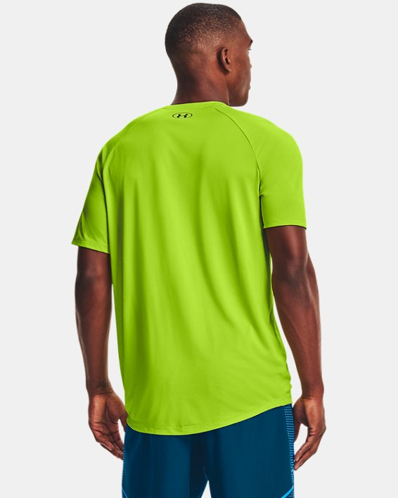 Men's UA Tech™ Triple Logo Short Sleeve, Green, pdpMainDesktop image number 1