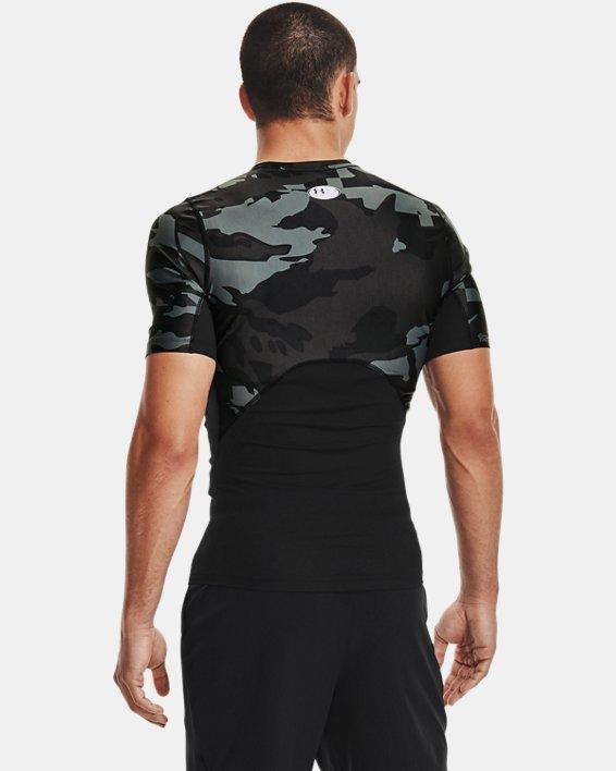 Men's UA Iso-Chill Compression Printed Short Sleeve, Black, pdpMainDesktop image number 2