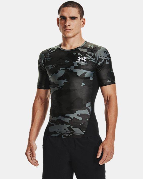Men's UA Iso-Chill Compression Printed Short Sleeve, Black, pdpMainDesktop image number 1