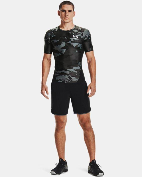 Men's UA Iso-Chill Compression Printed Short Sleeve, Black, pdpMainDesktop image number 0