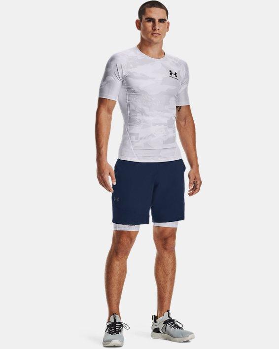 Men's UA Iso-Chill Compression Printed Short Sleeve, White, pdpMainDesktop image number 0
