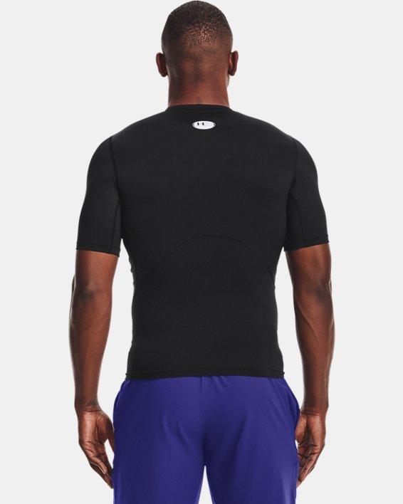 Men's HeatGear® Armour Short Sleeve, Black, pdpMainDesktop image number 2