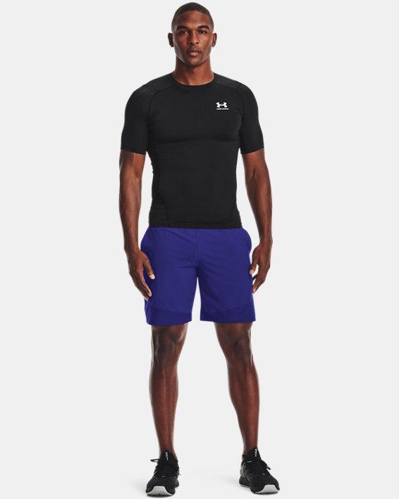 Men's HeatGear® Armour Short Sleeve, Black, pdpMainDesktop image number 0
