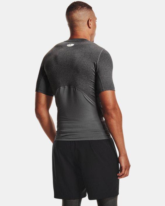 Men's HeatGear® Armour Short Sleeve, Gray, pdpMainDesktop image number 2