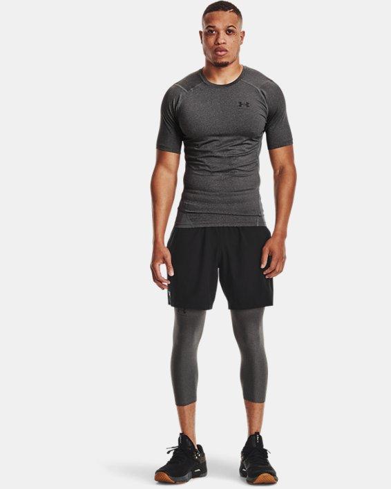 Men's HeatGear® Armour Short Sleeve, Gray, pdpMainDesktop image number 0