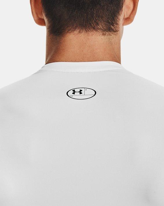Men's HeatGear® Armour Short Sleeve, White, pdpMainDesktop image number 5
