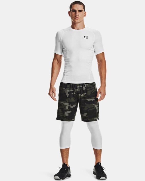 Men's HeatGear® Armour Short Sleeve, White, pdpMainDesktop image number 0