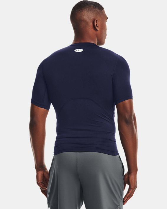 Herren T-Shirt HeatGear® Armour, Navy, pdpMainDesktop image number 2