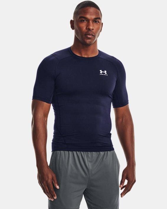 Herren T-Shirt HeatGear® Armour, Navy, pdpMainDesktop image number 1