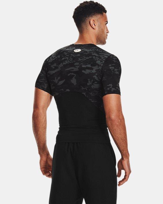 Men's HeatGear® Armour Camo Short Sleeve, Black, pdpMainDesktop image number 2