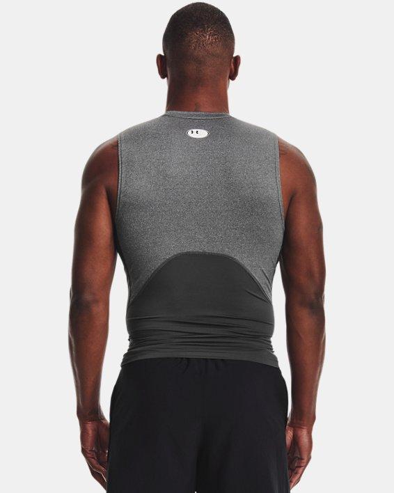 Herren HeatGear® Armour Ärmelloses Shirt, Gray, pdpMainDesktop image number 2