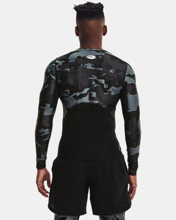 Men's UA Iso-Chill Compression Printed Long Sleeve, Black, pdpMainDesktop image number 2