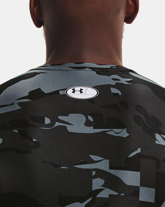 Men's UA Iso-Chill Compression Printed Long Sleeve, Black, pdpMainDesktop image number 6