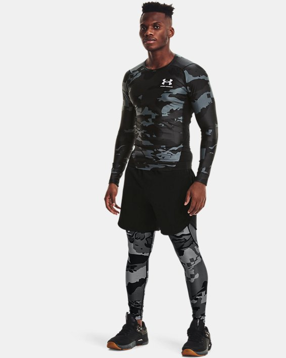 Men's UA Iso-Chill Compression Printed Long Sleeve, Black, pdpMainDesktop image number 0