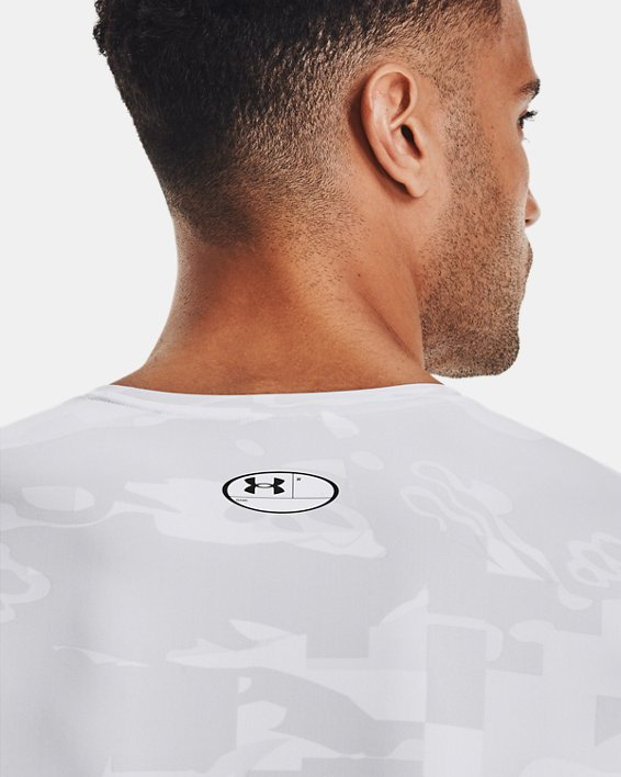 Camiseta de manga larga UA Iso-Chill Compression Printed para hombre, White, pdpMainDesktop image number 7