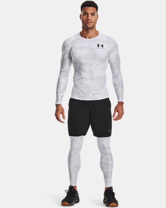 Camiseta de manga larga UA Iso-Chill Compression Printed para hombre, White, pdpMainDesktop image number 0