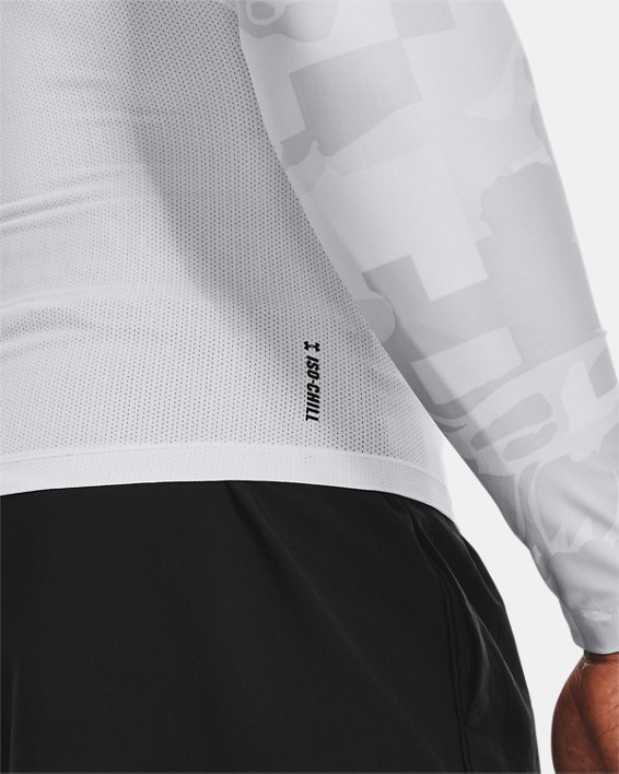 Camiseta de manga larga UA Iso-Chill Compression Printed para hombre, White, pdpMainDesktop image number 3