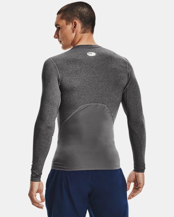 Men's HeatGear® Armour Long Sleeve, Gray, pdpMainDesktop image number 2