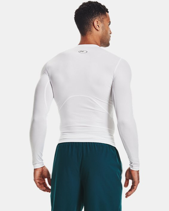 Camiseta de manga larga HeatGear® Armour para hombre, White, pdpMainDesktop image number 2