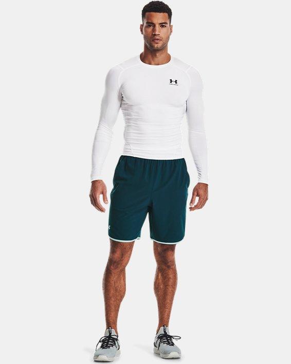 Camiseta de manga larga HeatGear® Armour para hombre, White, pdpMainDesktop image number 0
