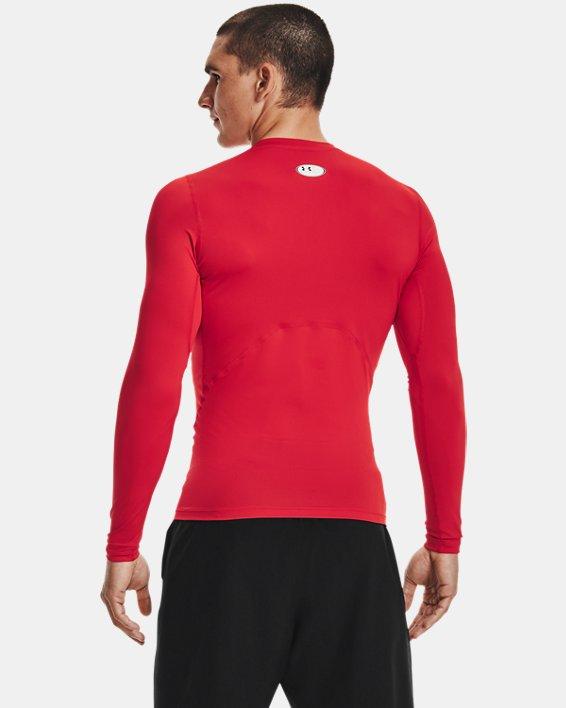 Men's HeatGear® Armour Long Sleeve, Red, pdpMainDesktop image number 2
